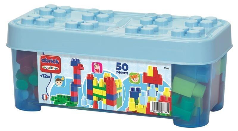 Abrick Stavebnice Maxi, 50 kostek modrá