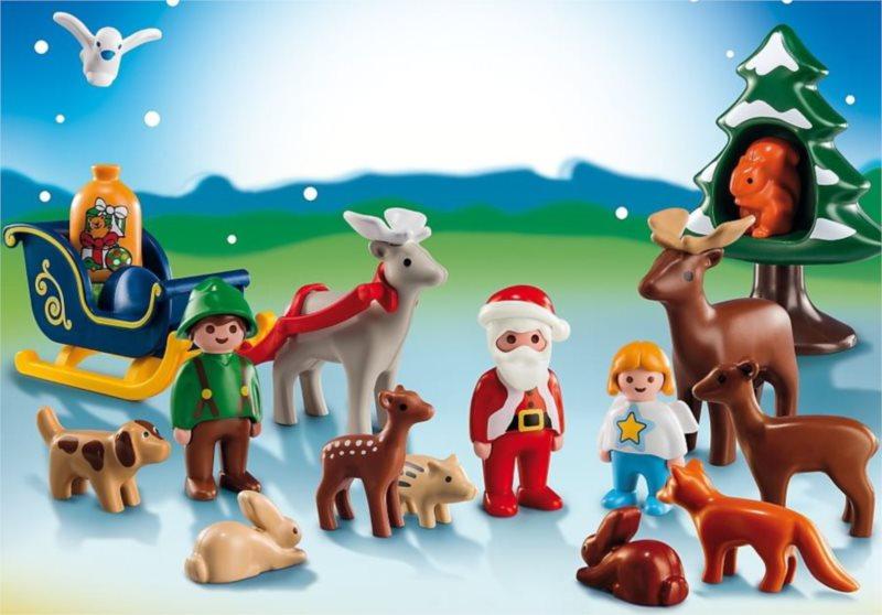 Playmobil 5497 Adventní kalendář (1.2.3) - Vánoce v lese