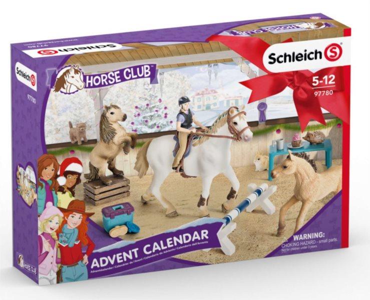 Adventní kalendář Schleich Koně na cvičišti