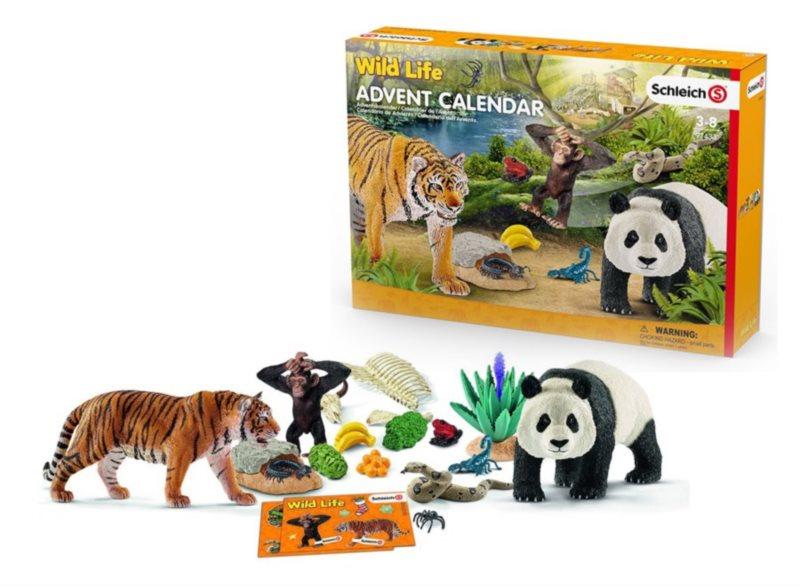 Adventní kalendář Schleich 2017 - Divoká zvířata
