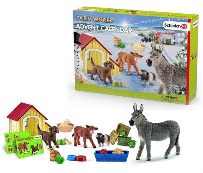 SCHLEICH Adventní kalendář Schleich 2017 - Domácí zvířata