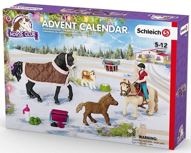 Adventní kalendář Schleich Koně v ohradě