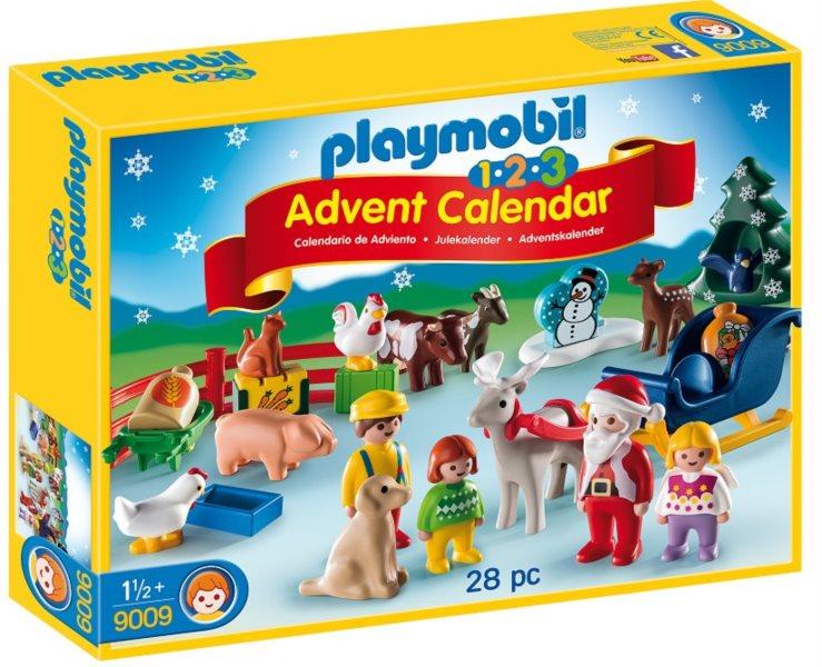 PLAYMOBIL Adventní kalendář - Vánoce na statku (1.2.3) 9009