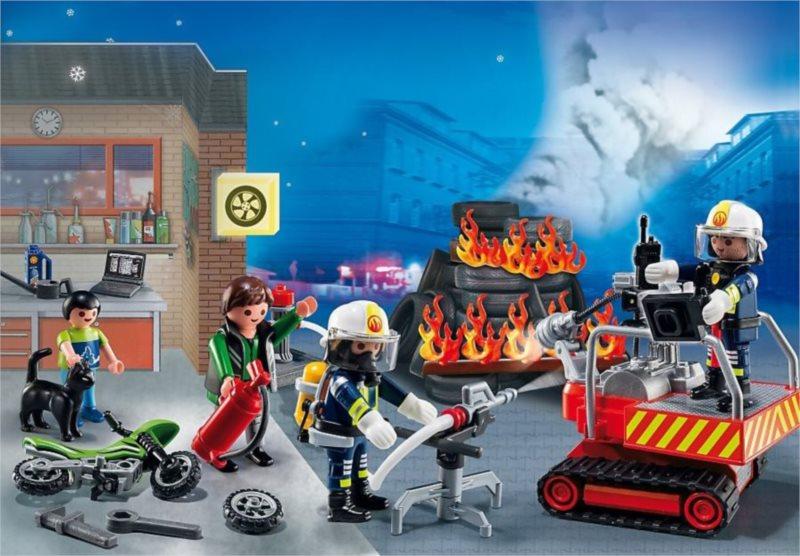 Playmobil 5495 Adventní kalendář - Zásah hasičů