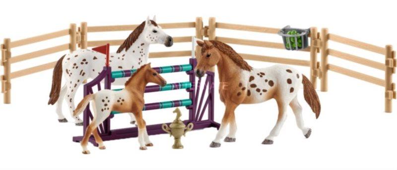 SCHLEICH Appalooští koně a tréninkové příslušenství