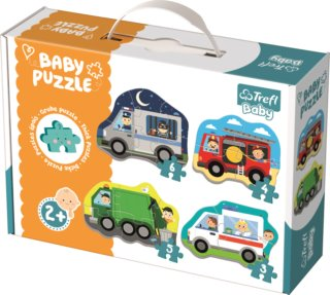 TREFL Baby puzzle Dopravní prostředky 4v1 (3,4,5,6 dílků)