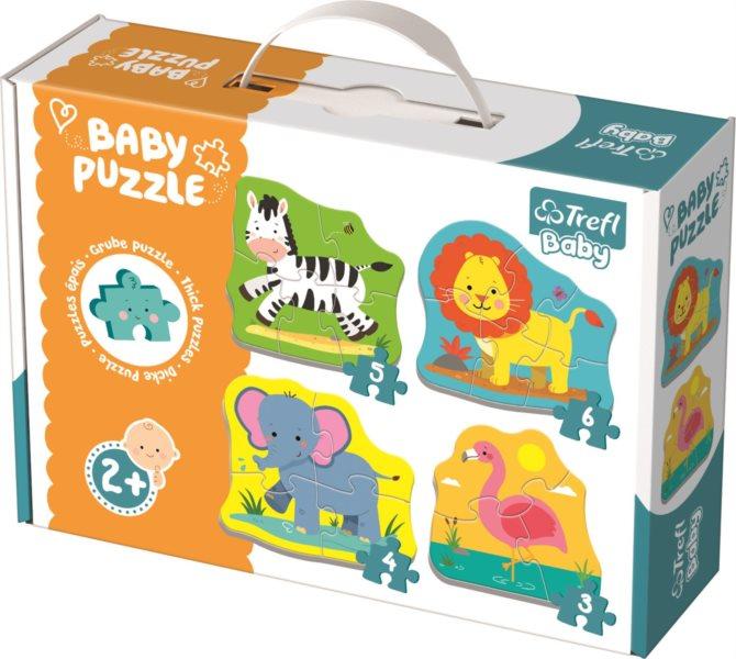 TREFL Baby puzzle Zvířata na safari 4v1 (3,4,5,6 dílků)