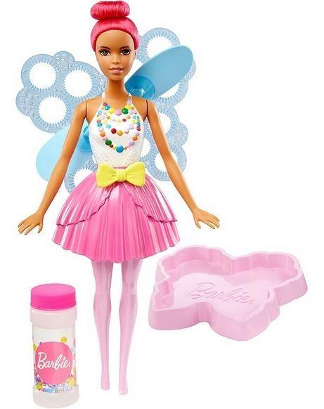MATTEL Barbie Bublinková víla - Tmavě růžová