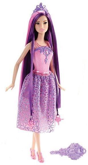 MATTEL Barbie Dlouhovláska - Fialová