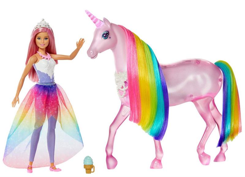 MATTEL Barbie Kouzelný jednorožec a vílí princezna