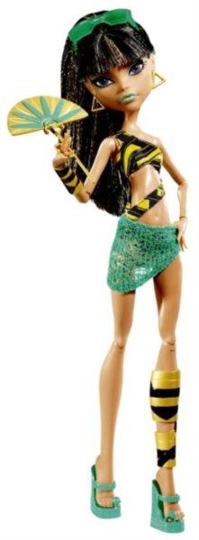 MATTEL Monster High Plážová příšerka - Cleo De Nile