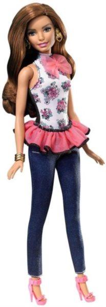 Barbie Modelka a šaty - Brunetka
