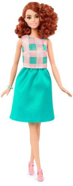 MATTEL Barbie modelka - Rusovláska v zelených šatech