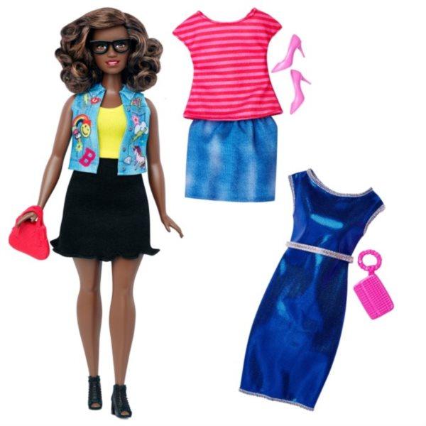 Barbie modelka s oblečky - Afroameričanka