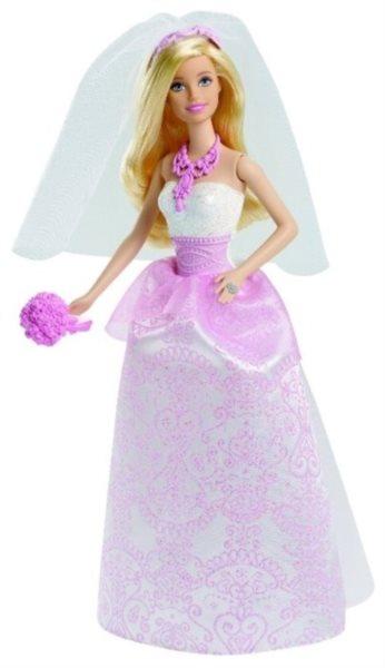 MATTEL Barbie Nevěsta s růžovými doplňky