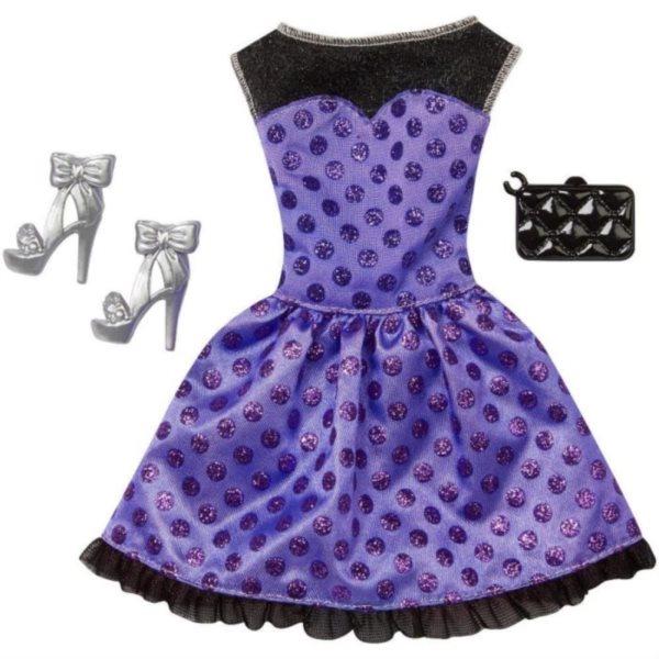 MATTEL Barbie Outfit s doplňky - Modré šaty