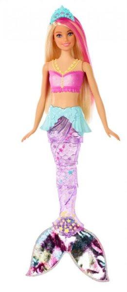 MATTEL Barbie Svítící mořská panna s pohyblivou ploutví Běloška