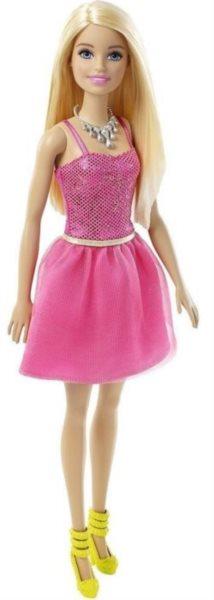 MATTEL Barbie v třpytivých šatech - Blondýnka