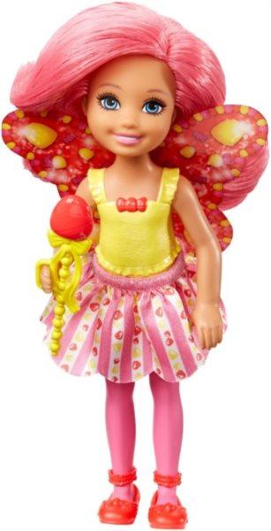 MATTEL Barbie víla Chelsea - Tmavě růžová