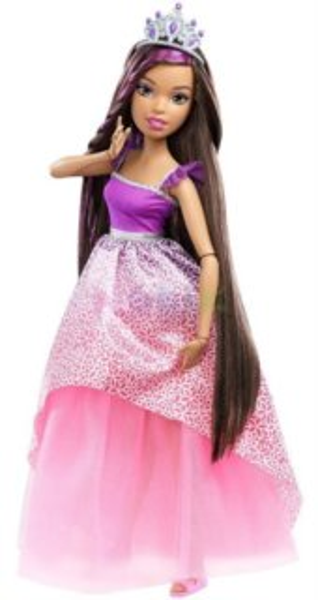MATTEL Barbie - Princezna (Brunetka) s dlouhými vlasy 43 cm