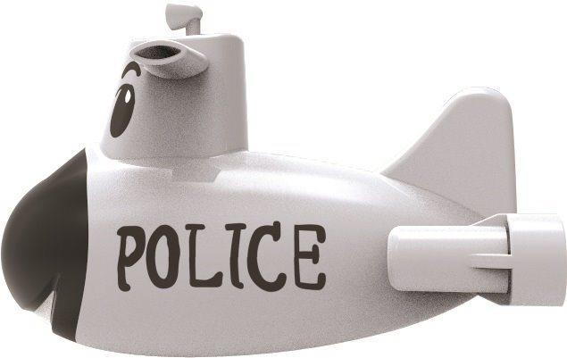 MAC TOYS Bílá policejní ponorka