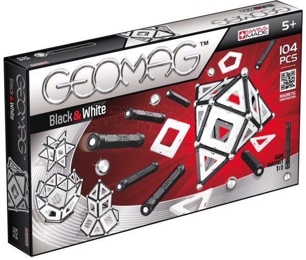 Magnetická stavebnice GEOMAG - Black and White 104 dílků