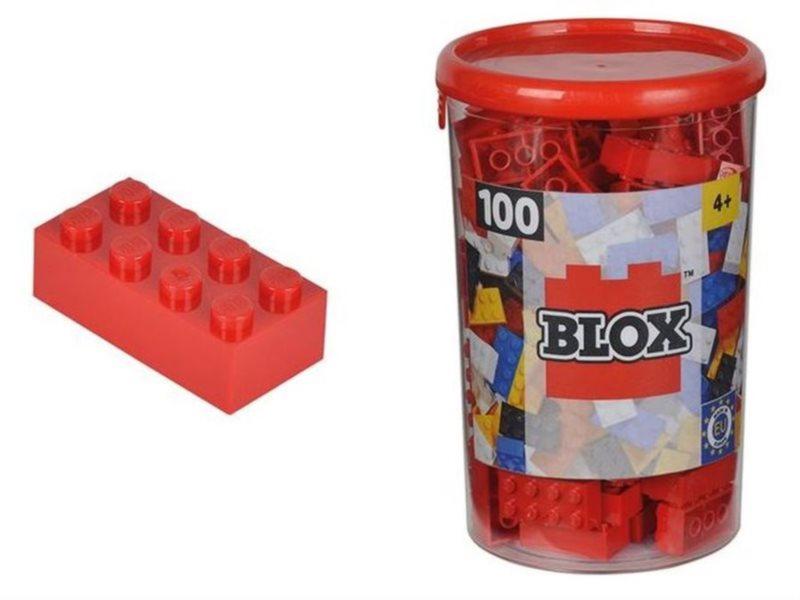 Blox 100 Kostičky červené v boxu