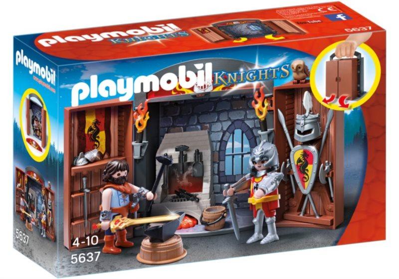 Playmobil 5637 Box na hraní Rytíř a kovář