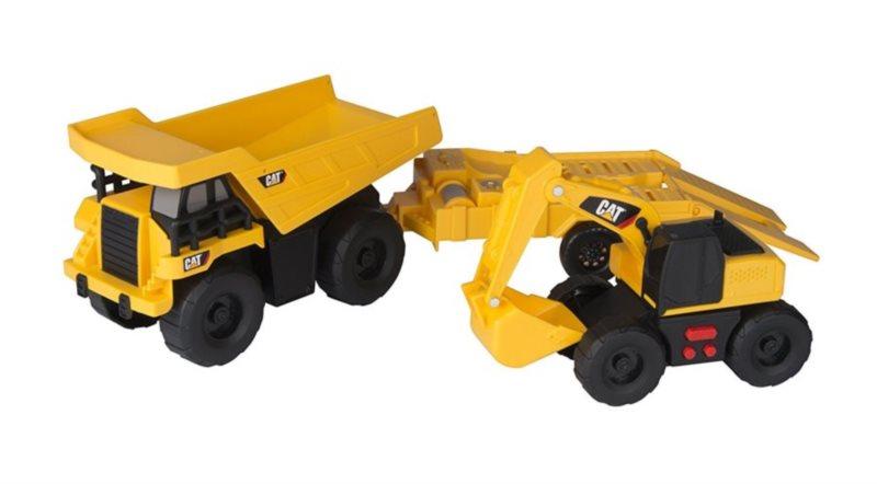 Toy State: CAT Nákladní auto s přívěsem a bagr