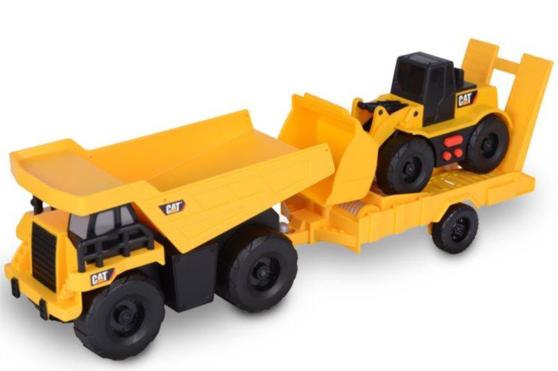 Toy State: CAT Nákladní auto s přívěsem a nakladač