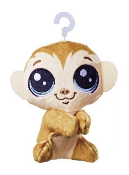 Hasbro Littlest Pet Shop LPS Plyšová opička Clicks Monkeyford s klipem