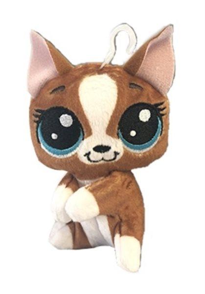 Hasbro Littlest Pet Shop LPS Plyšový pejsek Roxie Mcterrier s klipem