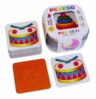 Pexeso pro děti v plechové krabičce