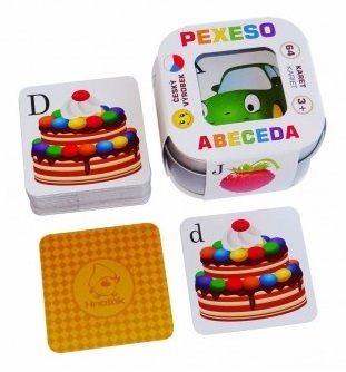 Pexeso pro děti v plechové krabičce - Abeceda