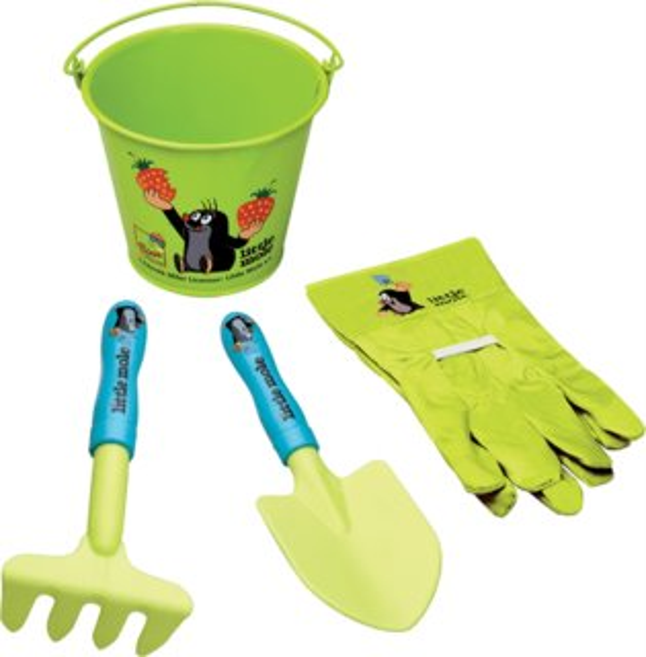 BINO 83115 Zahradní sada s kyblíkem: Krteček
