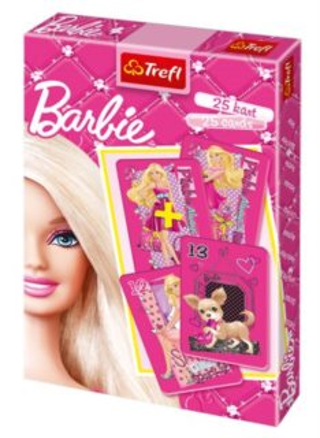 Dětské karty TREFL, Černý Petr - Barbie