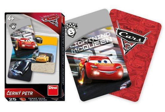 Dětské karty DINO, Černý Petr - Cars 3