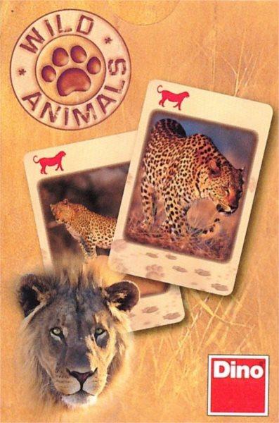 Dětské karty DINO, Černý Petr - Divoká zvířata