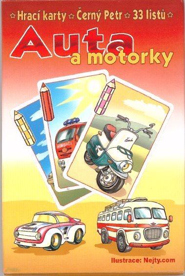 Dětské karty, Černý Petr - Auta a motorky