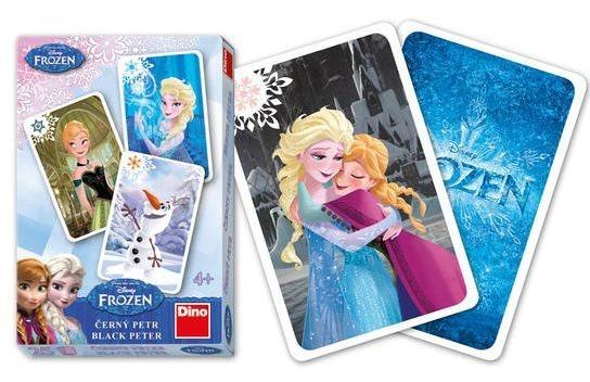 Dětské karty DINO, Černý Petr - Ledové království