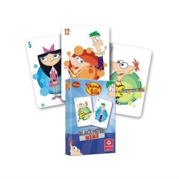 Dětské karty Černý Petr - Phineas a Ferb