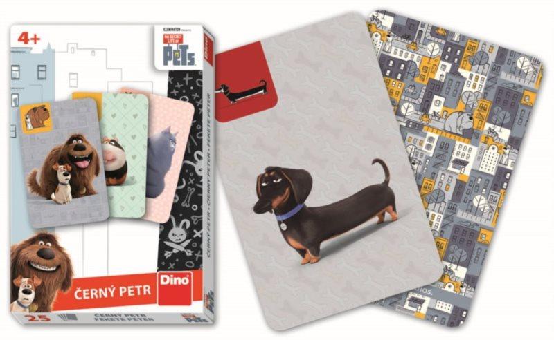 Dětské karty DINO, Černý Petr - Tajný život mazlíčků