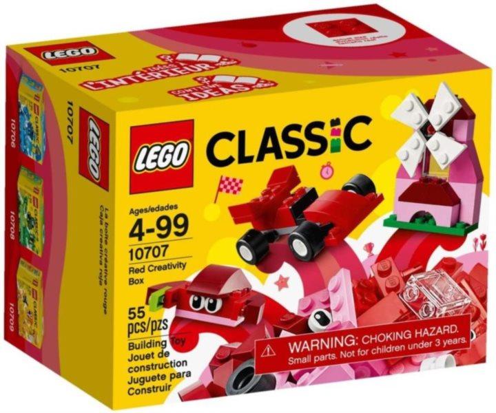 Červený kreativní box LEGO® 10707