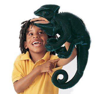 Chameleon (pohyblivý plyšák na ruku), FOLKMANIS PUPPETS