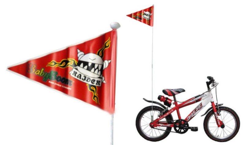Chlapecká vlajka na kolo