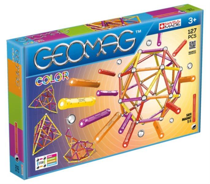 poškozený obal: Magnetická stavebnice GEOMAG - Kids Color 127 dílků