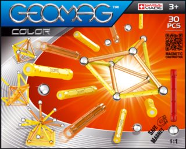 Magnetická stavebnice GEOMAG - Kids Color 30 dílků