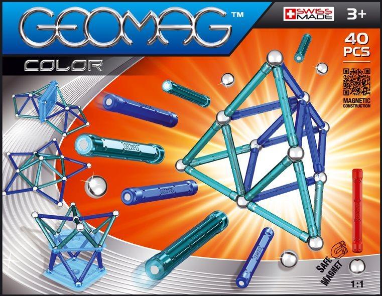 Magnetická stavebnice GEOMAG - Kids Color 40 dílků