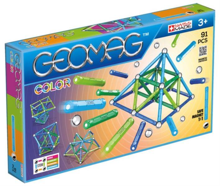 Magnetická stavebnice GEOMAG - Kids Color 91 dílků