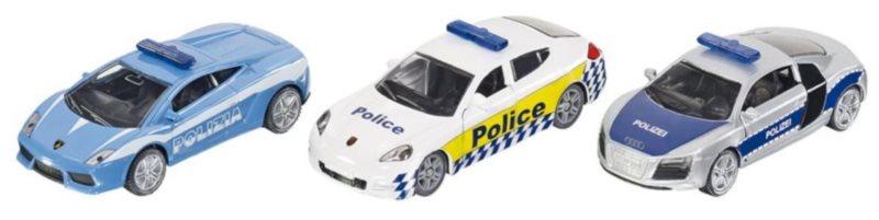 SIKU 6302 Dárková sada 3 policejních aut